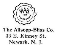 Allsopp-Bliss Co. jewelry mark