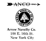 Arrow Novelty Co. jewelry mark