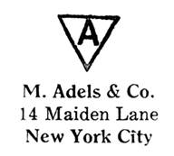 M. Adels & Co. jewelry mark