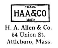H. A. Allen & Co. jewelry mark