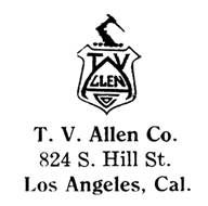 T. V. Allen Co. jewelry mark
