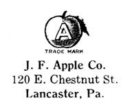 J. F. Apple Co. jewelry mark