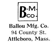 Ballou Mfg. Co. jewelry mark