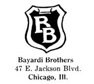 Bayardi Brothers jewelry mark