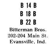 Bitterman Bros. jewelry mark