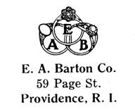 E. A. Barton Co. jewelry mark