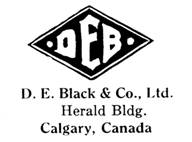 D. E. Black & Co. jewelry mark