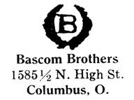 Bascom Brothers jewelry mark