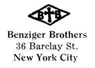 Benziger Brothers jewelry mark
