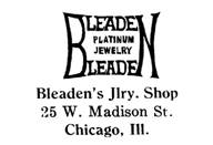 Bleaden's Jewelry Shop jewelry mark