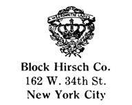 Block Hirsch Co. jewelry mark