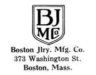 Boston Jewelry Mfg. Co. jewelry mark