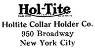 Holtite Collar Hold Co. jewelry mark