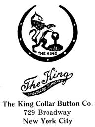 King Collar Button Co. jewelry mark