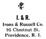Irons & Russell Co. jewelry mark