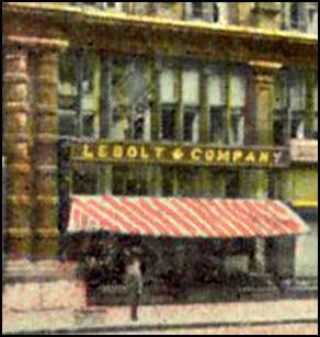 Lebolt & Co. shop in Chicago's Palmer House, 1911 (close-up)