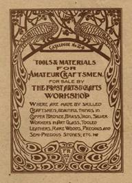1908 Frost Arts & Crafts Workshop catalog, which includes metalworking 
