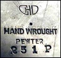 Charles H. Didrich pewter mark