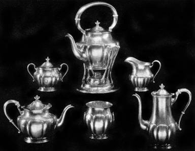 Fluted Tea and Coffee Service by Karl Leinonen