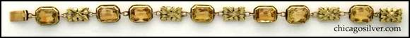 Edward Oakes bracelet -- front view -- 14K gold with golden topaz shown full length