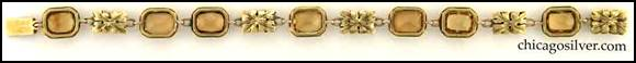 Edward Oakes bracelet -- back view -- 14K gold with golden topaz shown full length