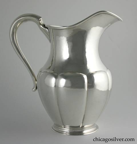 Karl F. Leinonen lobed pitcher, with KLF and Potter Bentley marks.