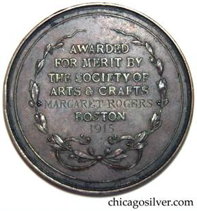 Margaret Rogers was one of a small handful of SOACB medalists for metalwork