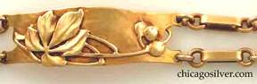 Detail from Rokesley gold bracelet