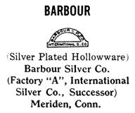 Barbour Silver Co. silver mark