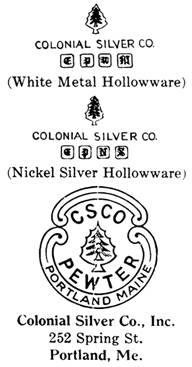 Colonial Silver Co. silver mark