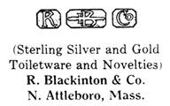R. Blackinton & Co. silver mark