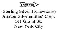 Ariston Silversmiths silver mark