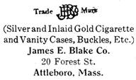 James E. Blake Co. silver mark