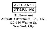 Artcraft Silversmith Co. silver mark