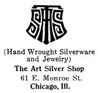 The Art Silver Shop silver mark