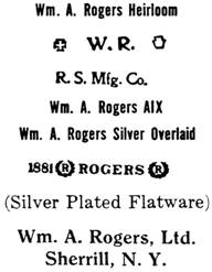 William A. Rogers silver mark