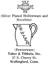 Taber & Tibbets silver mark