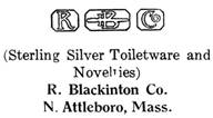 R. Blackinton Co. silver mark
