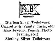 Theo. W. Foster & Bro. Co. silver mark
