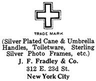 J. F. Fradley & Co. silver mark