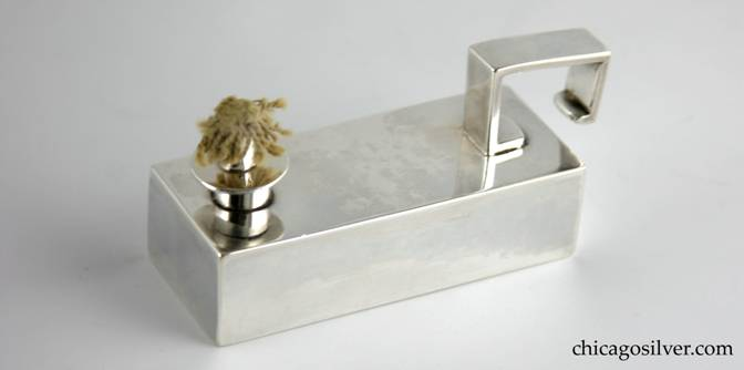 Lighter from Kalo tray, smokers, rectangular with matching removable lighter (2 pieces).
