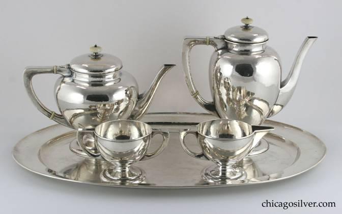 Kalo Coffee Tea Set Four Piece With Tray 5 Consisting