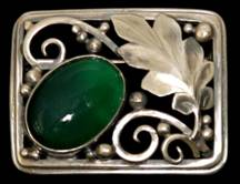 Laurence Foss silver brooch