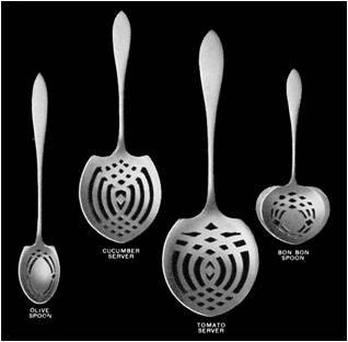 Utensil guide photo showing various servers